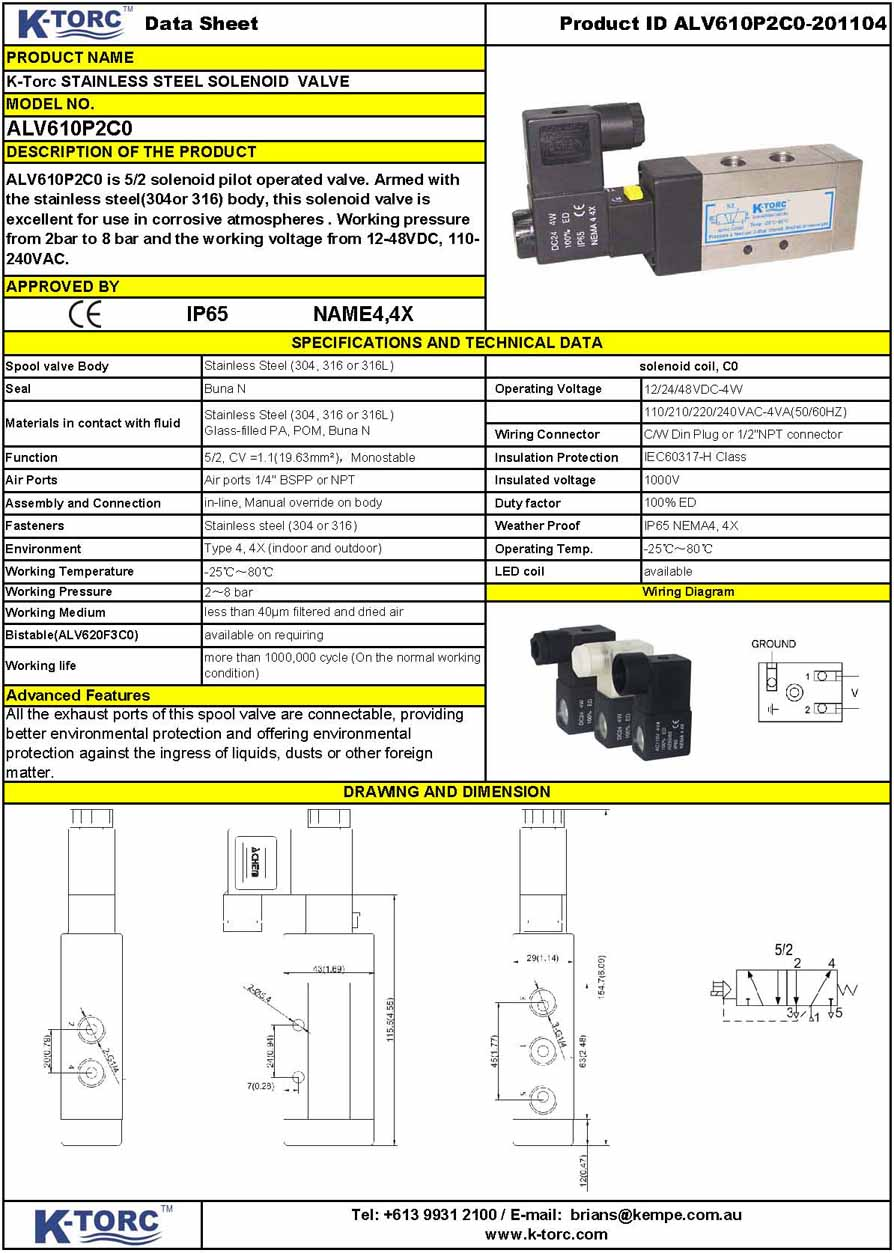 Alv Series Stainless Steel In Line Solenoid Valve Voltage Ss And Parallel Circuits